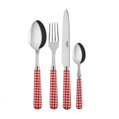 24 pieces set - Gingham - Red