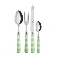 24 pieces set - Gingham - Garden green