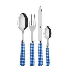 24 pieces set - Gingham - Lapis blue