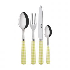 4 pieces set - Gingham - Yellow