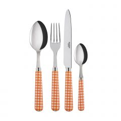 4 pieces set - Gingham - Orange