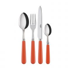 Set 4 pièces - Pop unis - Orange