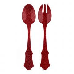 Salad set - HONORINE - Glitter red