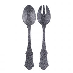 Small salad set - Glitter - Glitter silver