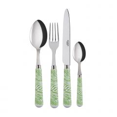 4 pieces set - Zèbre - Garden green