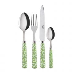 24 pieces set - Léopard - Garden green