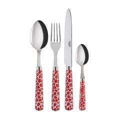 4 pieces set - Léopard - Red