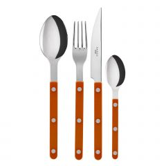 Table fork, spoon, knife, tea spoon - Bistrot shiny solid - Orange