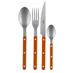 24 pieces set - Bistrot vintage solid - Orange