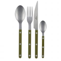 24 pieces set - Bistrot vintage solid - Green fern