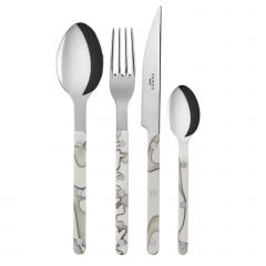 Table fork, spoon, knife, tea spoon - Bistrot dune - Ivoriy
