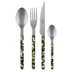 4 pieces set - Bistrot vintage Camouflage - Green